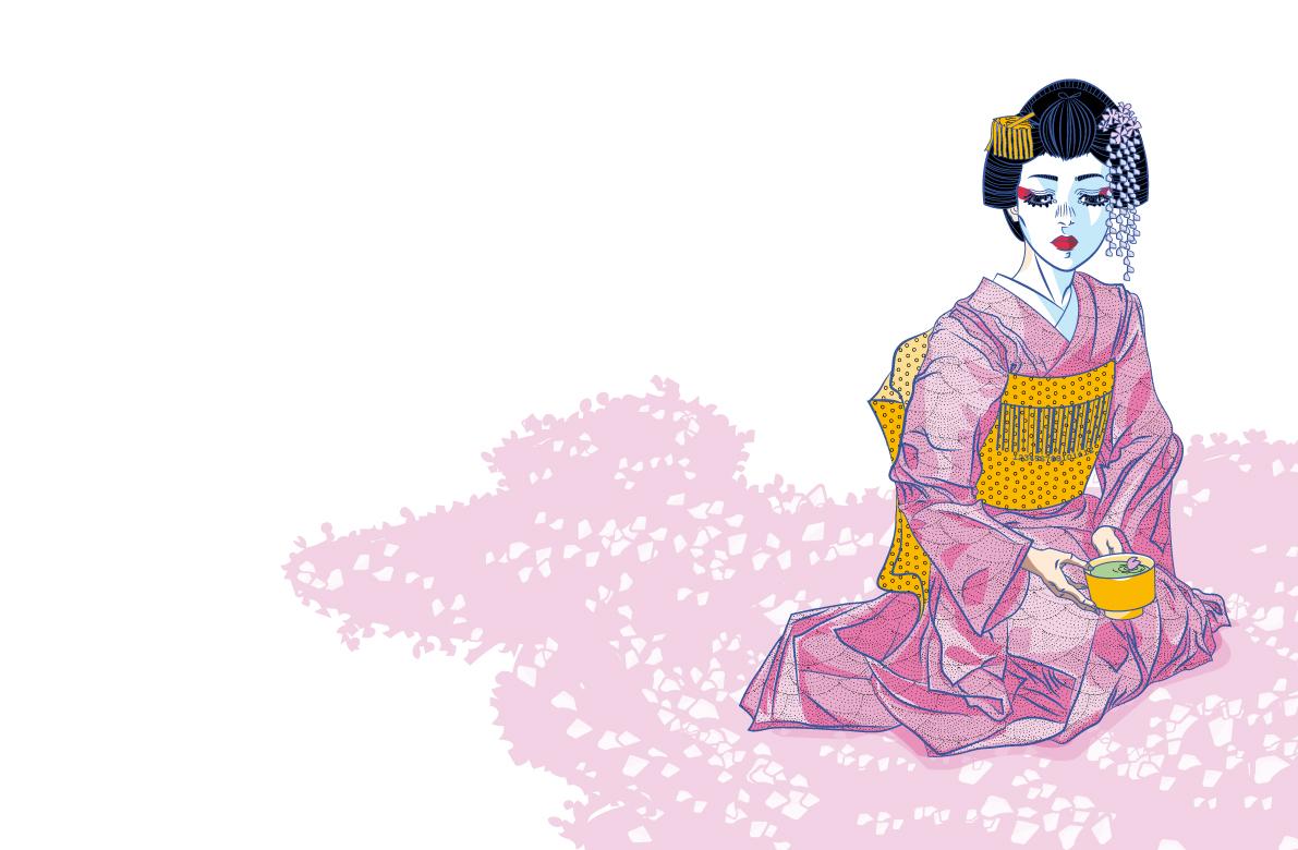 PALEDESIGN_UMG_geisha_kuvitus
